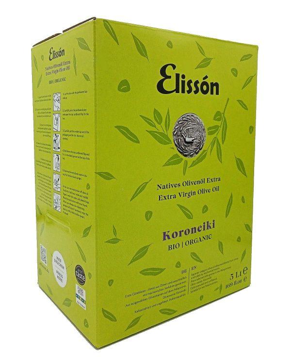Elissón Koroneiki Olive Oil  5 Liter Bag-in-Box